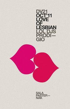 Love of lesbian poster —marindsgn by MARIN DSGN, via design Web Design, Print Design, Logo Design, Design Resume, Funky Design, Clever Design, Design Trends, Design Ideas, Illustration Design Graphique