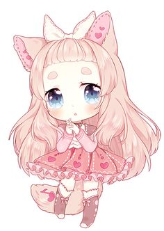chibi for charmsu ♥ she has the cutest characters aaa ramie was adopted from Puniuu !!! and thanks for the people who came to my stream! i love the company ^ 0 ^ done in sai / ps please do no...