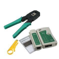 RJ45 RJ11 RJ12 Portable LAN Network Tool Kit UTP CAT5 CAT5e Cable Tester And Plier Crimp Crimper Plug Clamp PC M25 #Affiliate