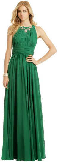 Badgley Mischka Fluorite Emerald Gala Gown on shopstyle.com
