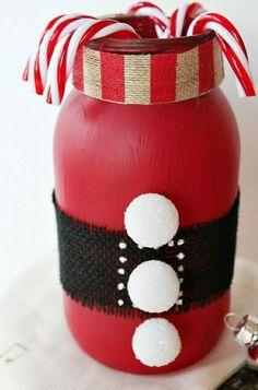bastelideen weihnachten einweckglas schneemann basteln