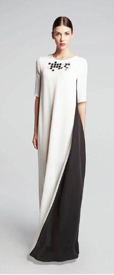 LUBLU Kira Plastinina SS14 dress, black and white color block with pixel beading. lublukp.com