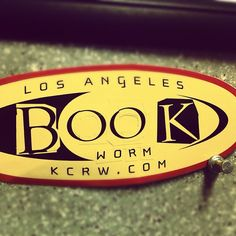 KCRW logo play! For Bookworms