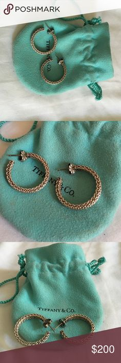 Tiffany & Co. Earrings Authentic Tiffany and Company Somerset mesh earrings. Excellent condition worn a few times just need a good cleaning and comes with dust bag. Make me a reasonable offer Tiffany & Co. Jewelry Earrings