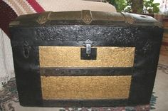 Ideas For Old Trunks | Antique trunk