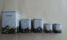 Vintage Dot Tin Cans Made in USSR Set of 5 by TinutesCreations