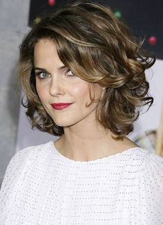 Keri Russell's charming hairstyle