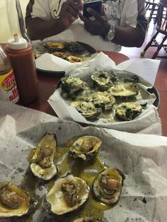 Baked oysters...the love!!!!