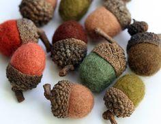 Felted Wool Acorns by ZM Felt - modern - holiday decorations - Etsy