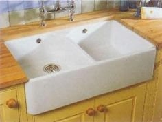 Shallow Apron Sink : ... sink on Pinterest Ceramic kitchen sinks, Kitchen sinks and Sinks