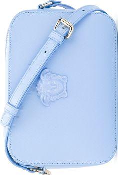 cae6565ad4 Versace Blue  Palazzo Medusa  Shoulder Bag