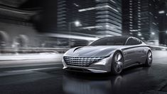 Hyundai Motor recently unveiled its new design concept 'Le Fil Rouge.' The concept car marks a new beginning for Hyundai design and provides a glimpse of its future design direction. Toyota, Hyundai Cars, Winter Fashion Boots, Winter Outfits, Car Posters, Poster Poster, Geneva Motor Show, Sports Sedan, Limousine