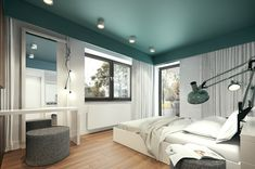 The single bedroom brings in natural elements with wood floors, a sea green ceiling, and granite end tables. A private entrance opens up onto a deck for a calming morning coffee.