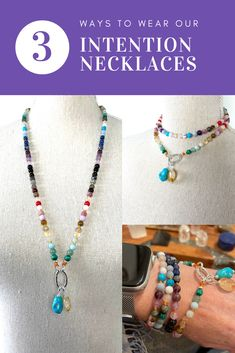 Long, doubled or as a bracelet...we use the highest quality gemstones and sterling silver. Customize them by adding your favourite charms and amulets. Gemstone Properties, Amulets, Leather Tassel, Necklaces, Bracelets, Gemstone Necklace, Charms, Chokers, Gemstones