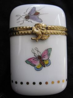 Limoges Porcelain Collectors Box hand painted.
