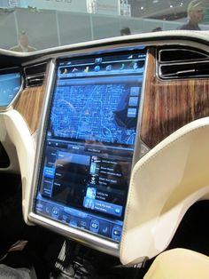 Tesla model x interior - Same screen on the Tesla model S too!