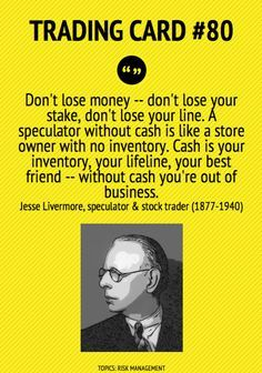 Trading Card Cash Is The Trader`s Best Friend by Jesse Livermore Trading Quotes, Intraday Trading, Online Trading, Forex Trading, Trading Cards, Analyse Technique, Stock Market Quotes, Financial Quotes, Stock Trader
