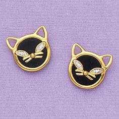 Diamond Eyes Cat Earrings - AmeriMark - Online Catalog Shopping for Womens Apparel | Beauty Products | Jewelry | Womens Shoes | Health | Wellness