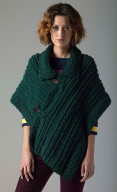 More of the Best Ponchos to Knit for Fall – 23 free patterns | Grandmother's Pattern Book