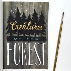 Creatures of the Forest Wolf Journal Page by Angela Staehling in Strathmore 500 Series Mixed Media Art Journal