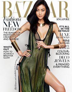 ASIAN MODELS BLOG: MAGAZINE COVER: Ji Hye Park for Harper's Bazaar Singapore, March 2014