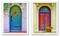 more colorful doors