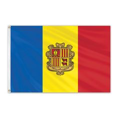 Andorra Outdoor Nylon Flag with Seal #FlagCo #OutdoorFlag #Andorra