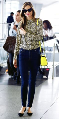 Jet-Set in Style: 39 Celebrity-Inspired Outfits to Wear on a Plane - Miranda Kerr from #InStyle