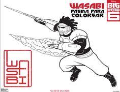 pagina para colorear de wasabi big hero 6
