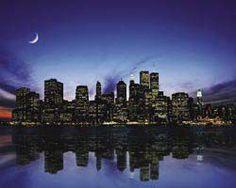 New York (Skyline) - plakat - 50x40 cm  Gdzie kupić? www.eplakaty.pl