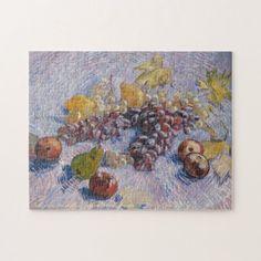 Fruits Still Life Vincent van Gogh Painting Art Jigsaw Puzzle #jigsaw #puzzle #jigsawpuzzle Custom Gift Boxes, Customized Gifts, Custom Gifts, Custom Jigsaw Puzzles, Van Gogh Paintings, Make Your Own Puzzle, Vincent Van Gogh, Lovers Art, Vintage Art