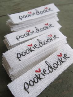 Twill Fabric Labels halfinch ribbon cut and by inkedpapers, $30.00