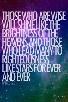 The verse I live by.  Back when I was young, I never read the bible and wasn't too sure about God.  One day, I decided to look up a verse simply based on my middle name, and my two favorite numbers that happened to be on my bugs bunny light, 12 & 3.  To this day, I live by this verse.  God spoke to me that day when I randomly opened up His word.  I will never forget.  He is always with me.