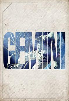 Gemini in capitols.
