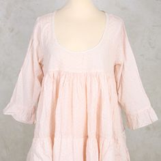 ad0d20cdc Malie Dress with Gathered Layers in Rose Print - Les Ours