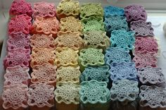 Serendipity Patch: Crochet - love the colors of these beauties. Pattern from 200 Crochet Blocks. All that is left is the white border