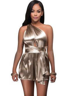 6a173d7e247e Abasona Women Playsuits Evening Party Female Overalls One Shoulder Sexy  Bodysuits Night Club Bandage Rompers Jumpsuits Women