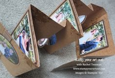 Mini album made using the Flip Card Thinlits dies from Stampin' Up!® - Stamp Your Art Out! www.stampyourartout.com