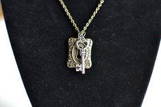 Vintage inspired Skeleton key & keyhole by lulusloftofdesigns, $15.00