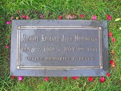 Michael Hutchence (of INXS) gravestone..death on 11-22-1997
