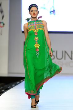 Somal Halepoto - green with kaam