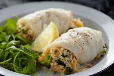Haddock Stuffed with Broccoli and Canadian Cheese Pilaf recipe - Canadian Living Fish Recipes, Lunch Recipes, Seafood Recipes, Cooking Recipes, Healthy Recipes, Seafood Meals, Canadian Cheese, Canadian Food, Canadian Living Recipes