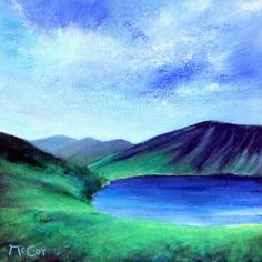 The Guinness Lake – Original Oil Painting on Canvas – Ready to Hang: Beautiful oil painting on canvas of Lough Tay, commonly called The…
