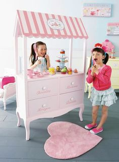 Home Shabby Home: Kids Room Tante Emma Laden, Deco Rose, Play Shop, Shabby Home, Toy Rooms, Little Girl Rooms, Kid Spaces, Kids Decor, Play Houses
