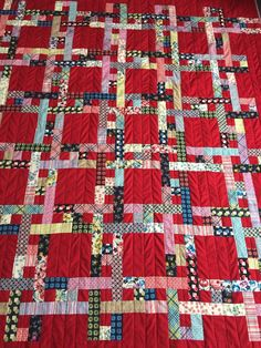 Interesting quilt with great fabrics!