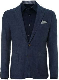 Hugo Boss Men's Linen single breasted blazer