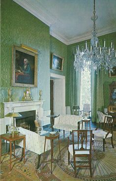 Green Room in the White House...THE White House