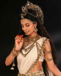 Durga Kali, Durga Goddess, Saris, Beautiful Indian Actress, Beautiful Actresses, Indian Dresses, Indian Outfits, Shiva Parvati Images, Pooja Sharma