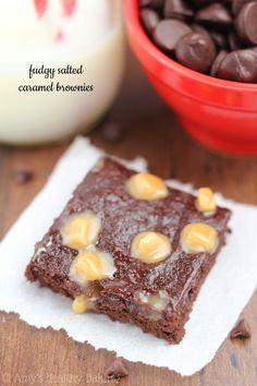 Fudgy Salted Caramel Brownies