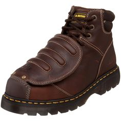 Martens Men's Ironbridge MG ST Steel-Toe Met Guard Boot * Wow! Check it out now! Good Work Boots, Cool Boots, Men's Boots, Ankle Boots, Welding Boots, Welding Gear, Welding Helmet, Dr. Martens, Steel Toe Shoes